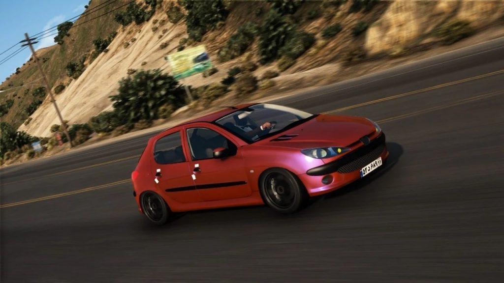 خودرو پژو 206 برای GTA V