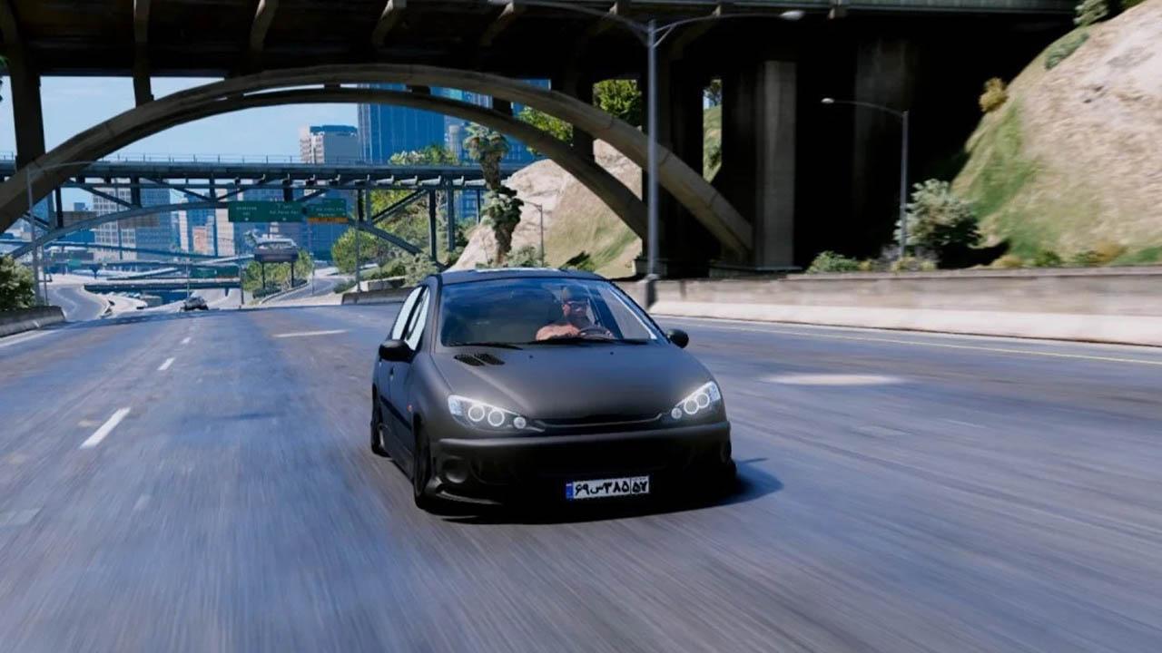 خودرو پژو 206 اسپرت برای GTA V