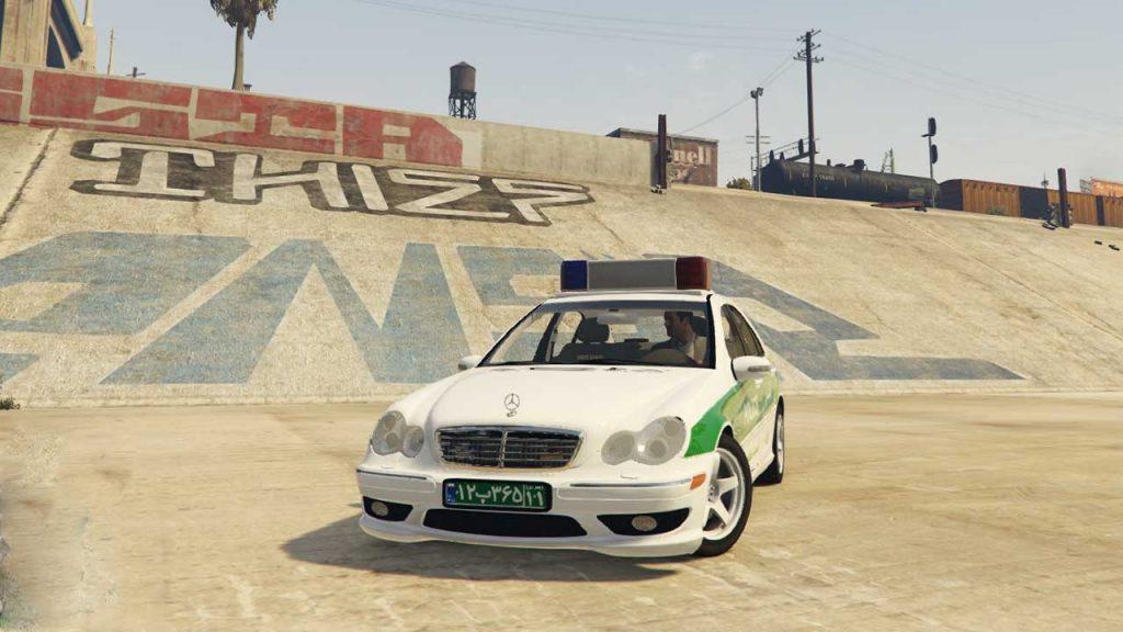 خودرو مرسدس بنز C32 پلیس برای GTA V