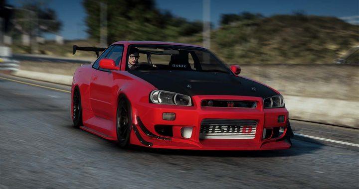 خودرو Nissan Skyline GT-R R34 برای GTA V