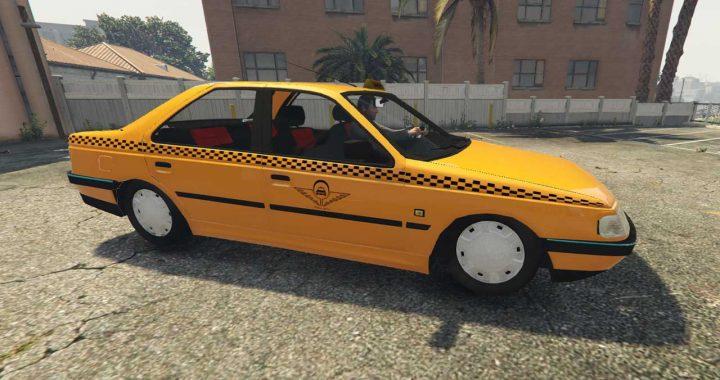 خودرو پژو 405 تاکسی برای GTA V