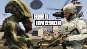 مد حمله بیگانگان برای GTA V