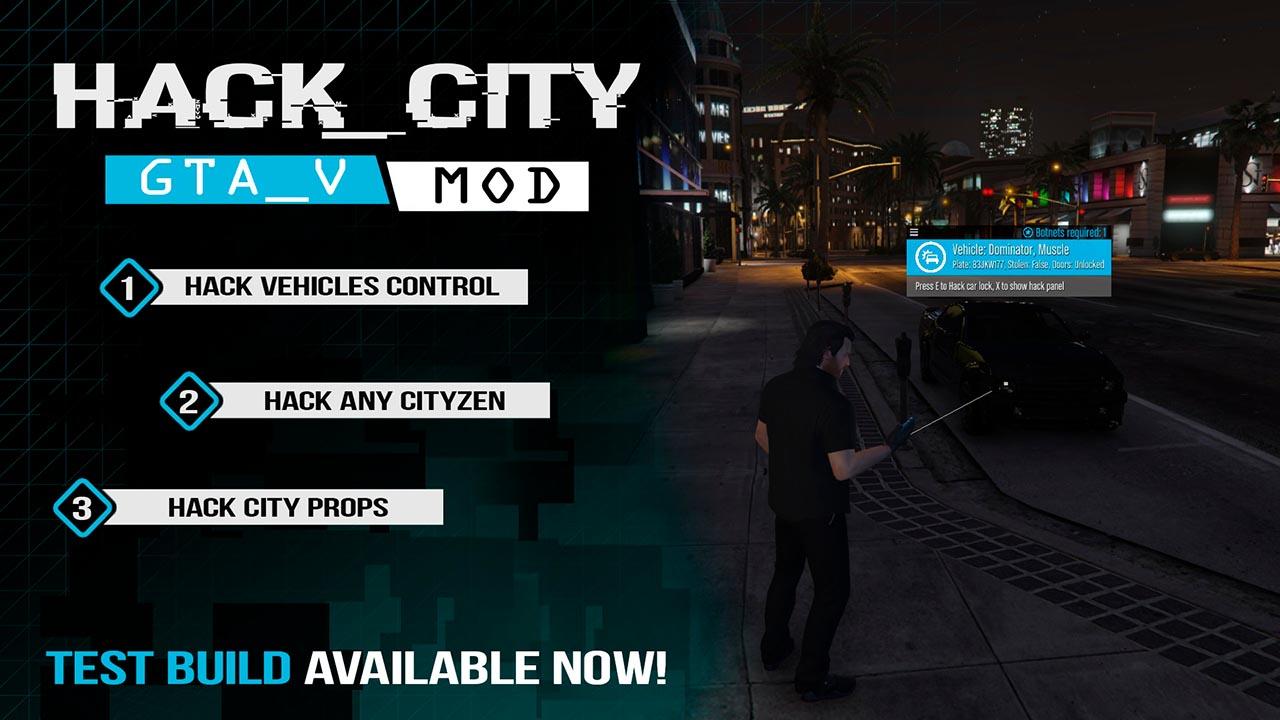 مد Hack City برای GTA V
