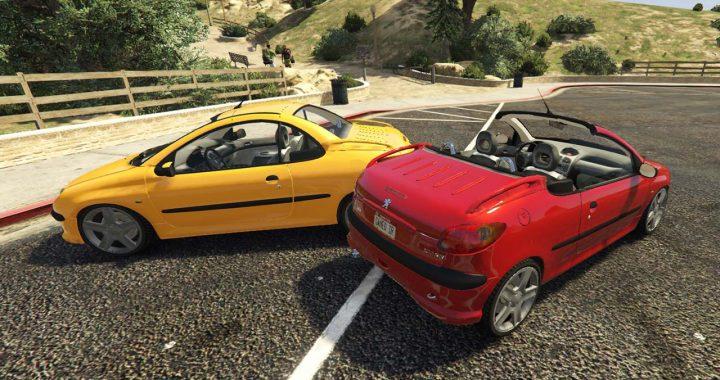 خودرو پژو 206 کروک برای GTA V