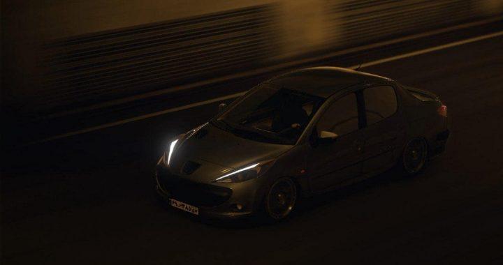 خودرو پژو 207 صندوقدار برای GTA V