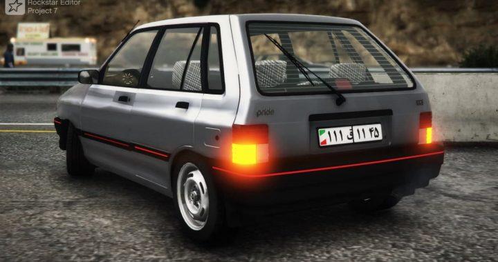 خودرو پراید هاچ بک برای GTA V