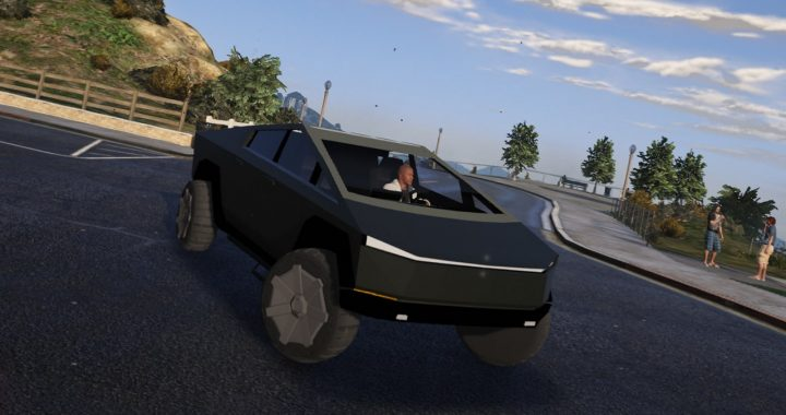 خودرو Tesla Cybertruck برای GTA V