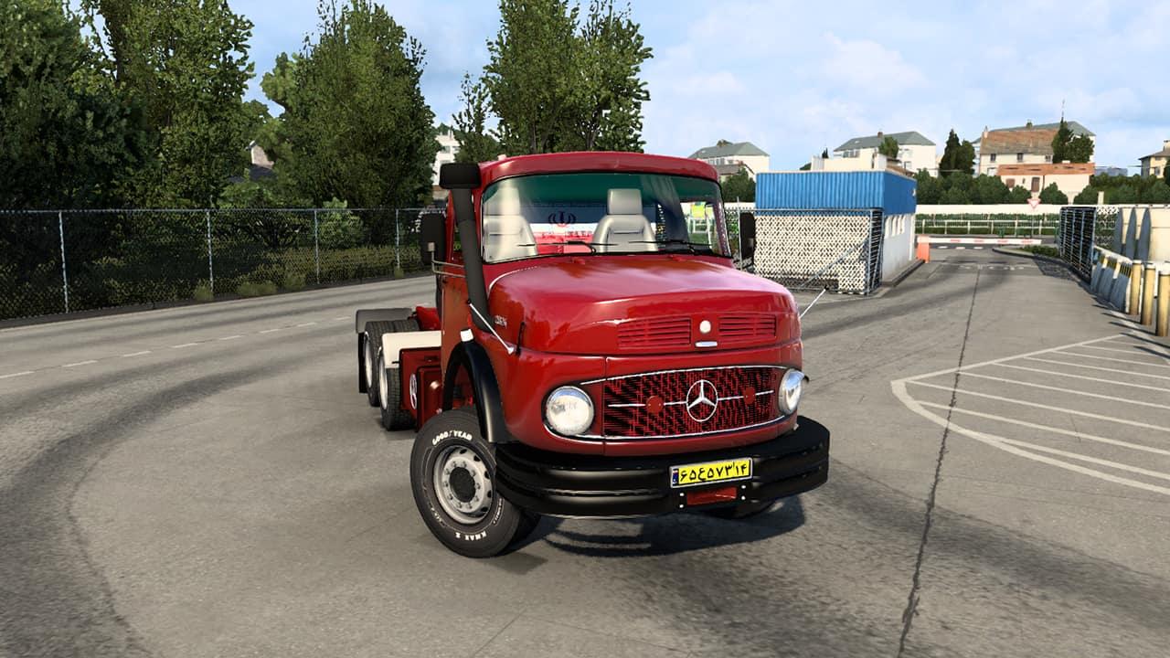 مد کامیون بنز 2624 برای Euro Truck Simulator 2