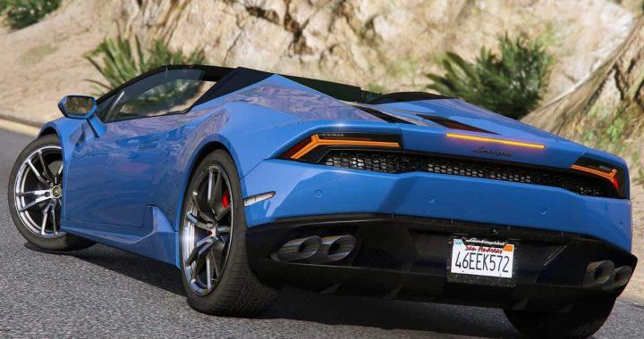 خودرو Lamborghini Huracan Spyder 2017 برای GTA V