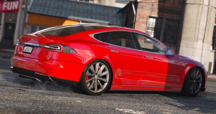 خودرو Tesla Model S برای GTA V