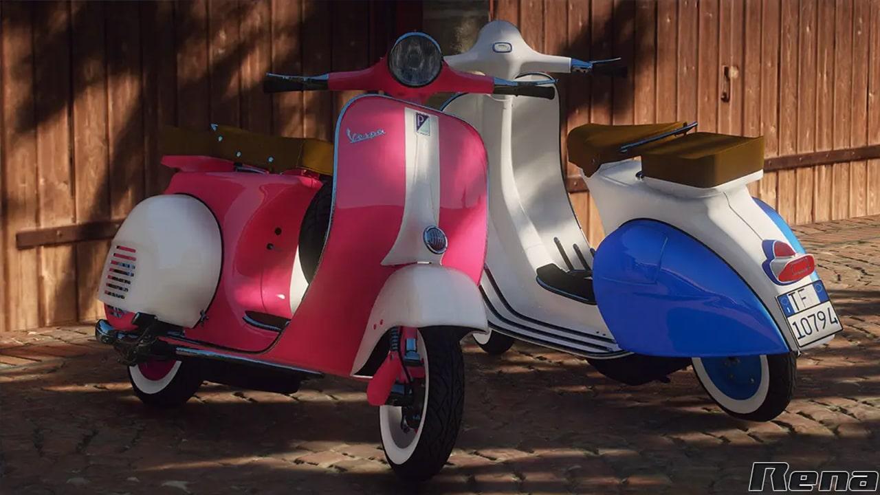 موتور سیکلت Piaggio Vespa VNB 125 برای GTA V