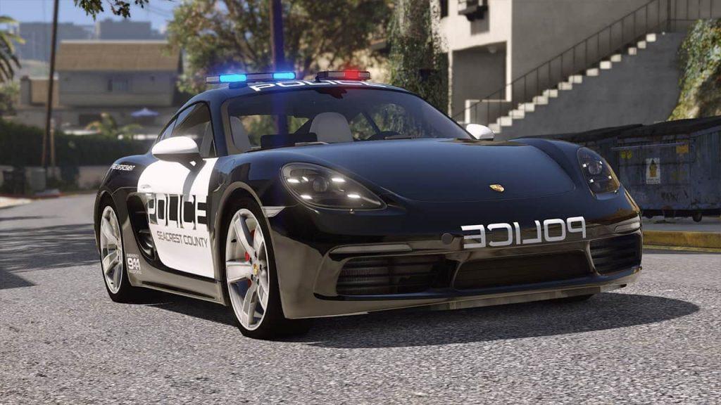 خودرو Porsche 718 Cayman S Police برای GTA V