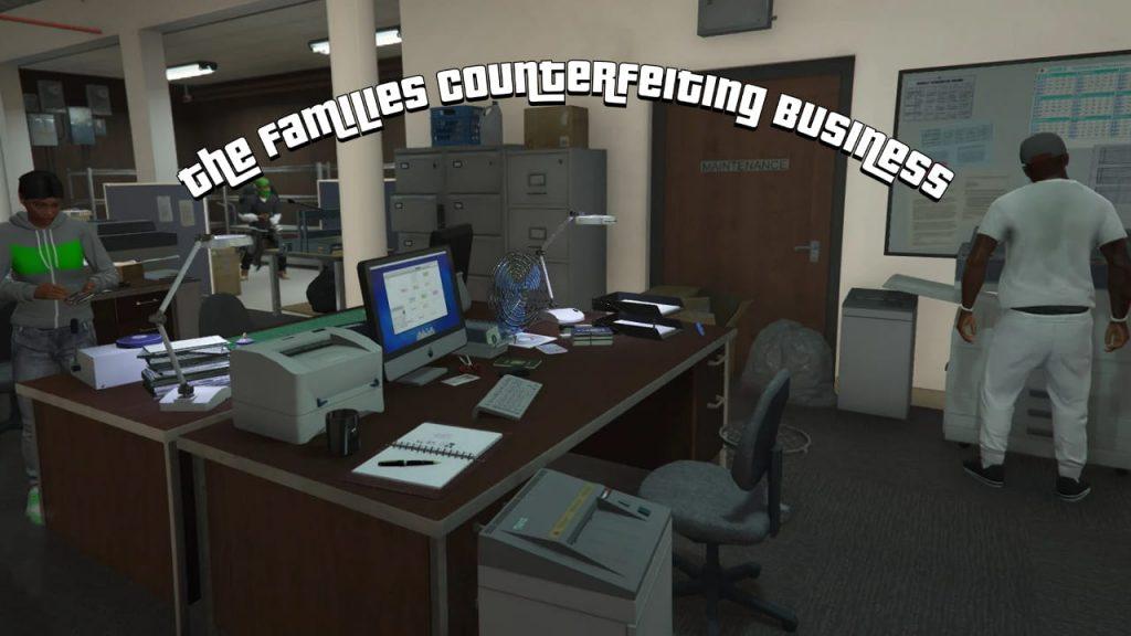 مد تجارت The Families Counterfeiting برای GTA V