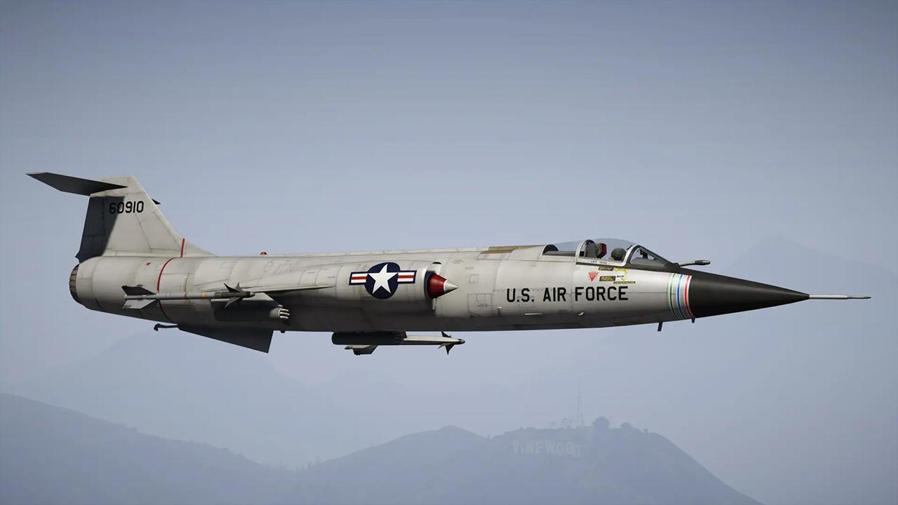 هواپیما جنگنده F-104C Starfighter برای GTA V