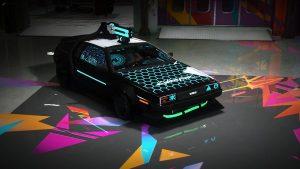 خودرو Cyberpunk Delorean DMC-12 برای FiveM